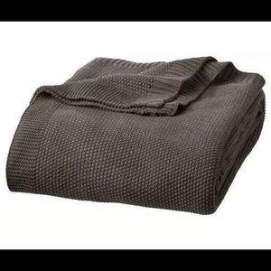 Other - ISO -sweater knit blanket dark warm mushroom grey